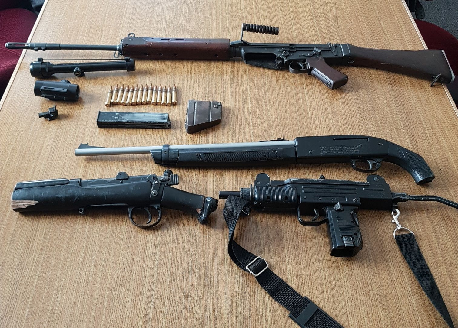 Seized Firearms, Ammo and pellet guns